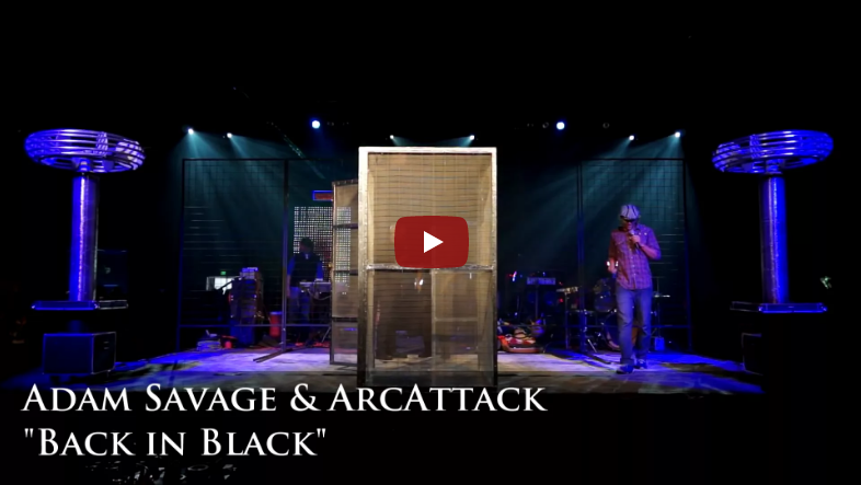 YouTube – Adam Savage with ArcAttack – Doctor Who Theme