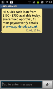SMS about Payday Loans? Yes please.