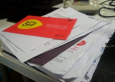 Virgin Media junk mail-o-meter
