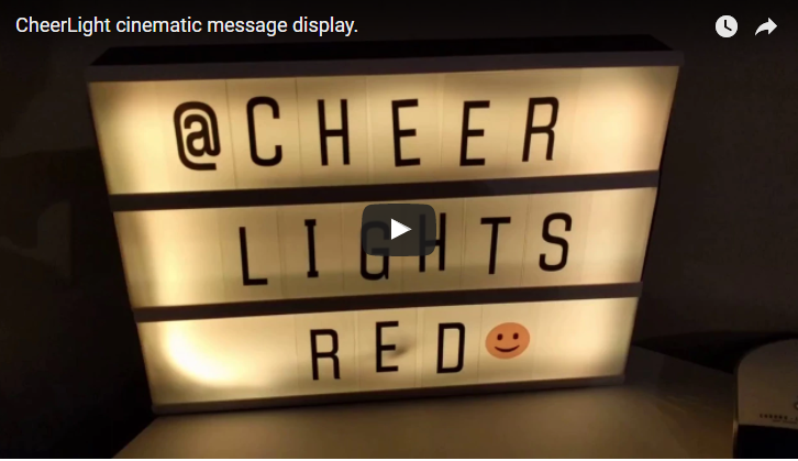 CheerLights cinema message board