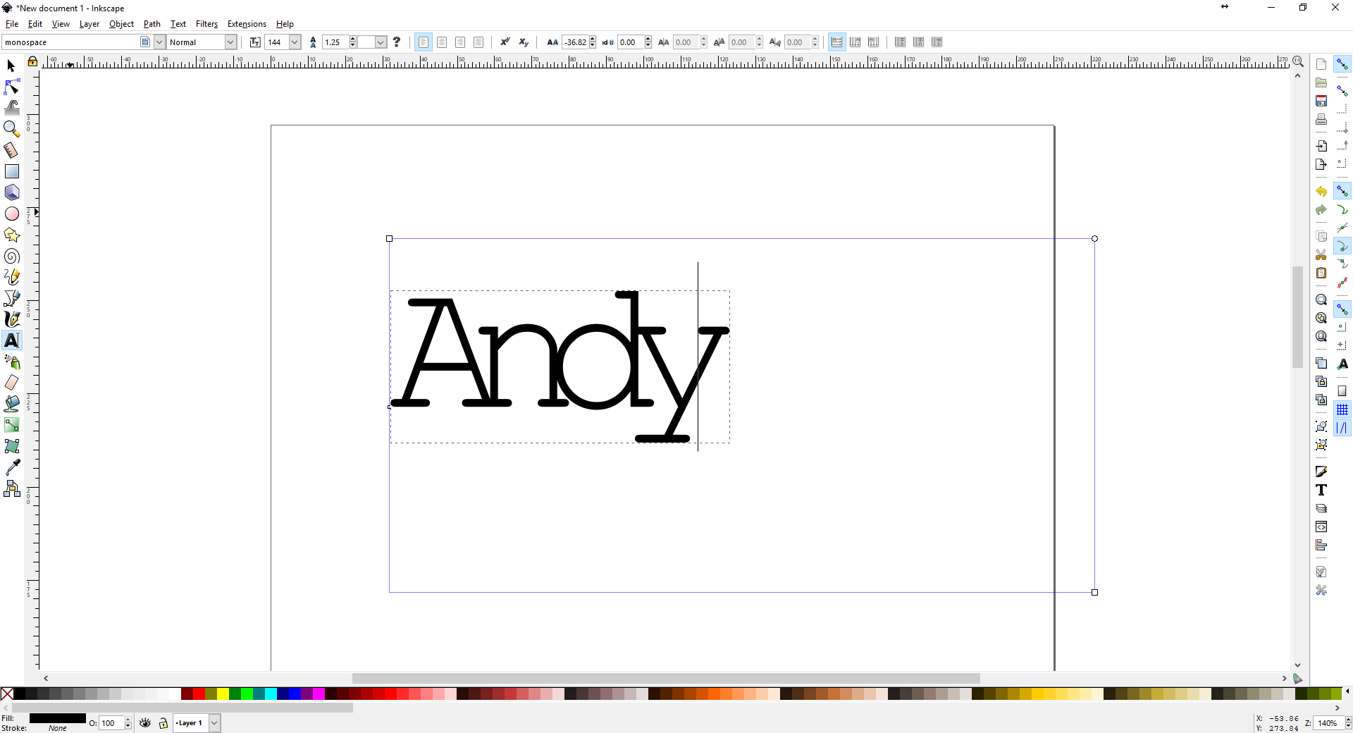 How to merge text in Inkscape for laser cutting (or vinyl