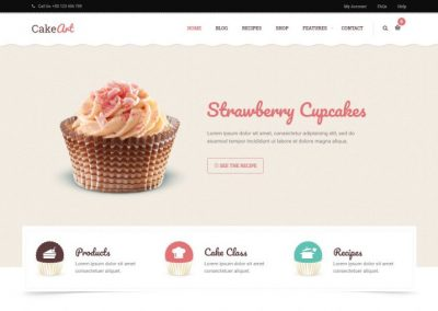 5 WordPress cake shop website templates