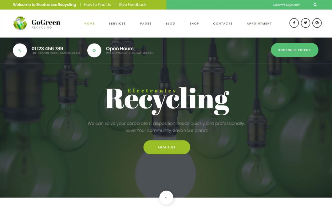 5 WordPress Recycling website templates