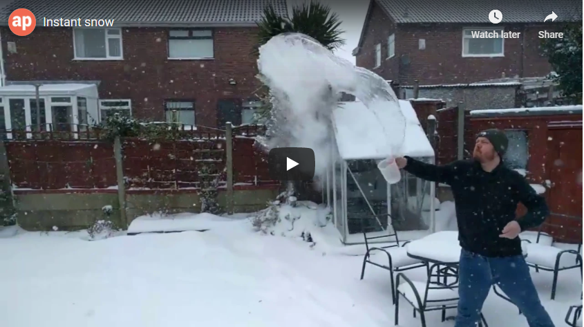 Making instant snow