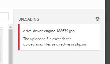 The uploaded file exceeds the upload_max_filesize directive